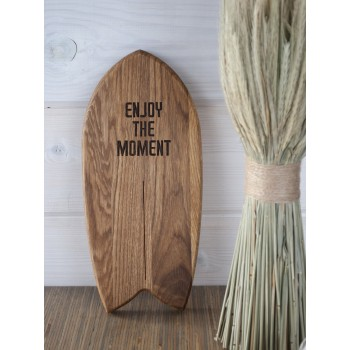 "Доска - серф ""Enjoy the moment"" (светлый дуб)"