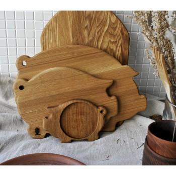 """Набор деревянных досок для сервировки и резки """"Хрюши"""""""